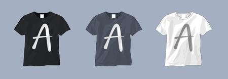 Blank t shirt template set