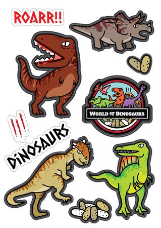 Dinosaurus character design set.