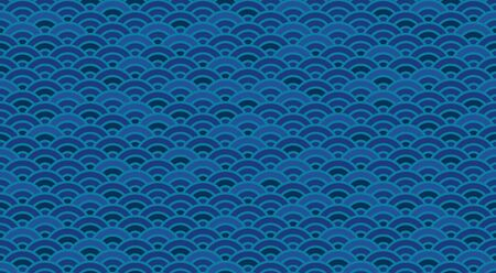 Chinese And Japanese Wave Seamless Wallpaperoriental Sea Background