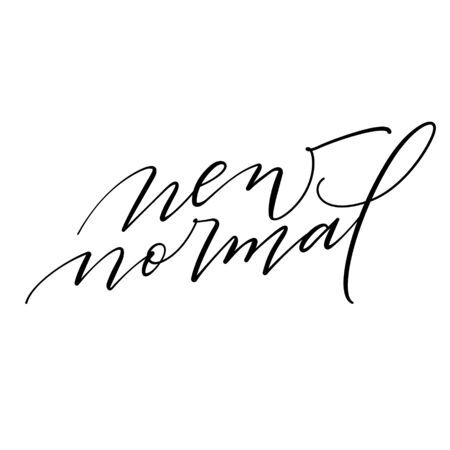 New normal. Hand draw quote script calligraphy typography vector. Inspiration for development,positive thinking to people and yourself.