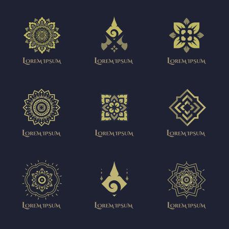 Luxury concept logo design vector set.