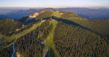 Aerial view of Poiana Brasov in summer