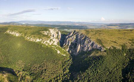 turda: Aerial view of Turda Gorge Stock Photo