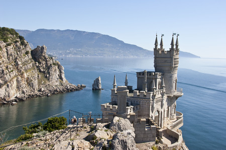 Decorative castle located at Gaspra, a small spa town between Yalta and Alupka, in the Crimean Peninsula Editorial