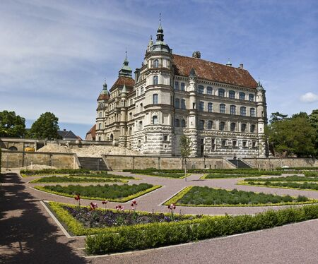 Renaissance-era palatial schloss in Gustrow. Mecklenburg-Western Pomerania. Germany