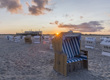 comfortableness: Traditional beach baskets or hooded beach chairs at nothern Germany