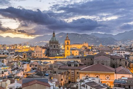 Evening view of Palermo