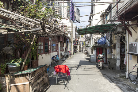 Ancient street in the old district of Shanghai