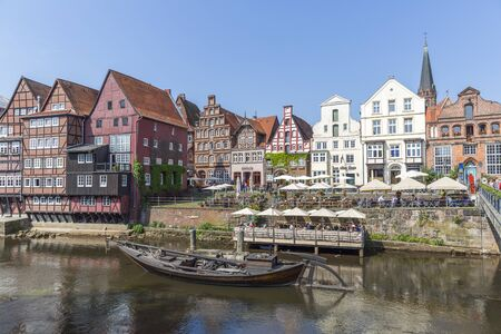 Historic waterfront in Luneburg