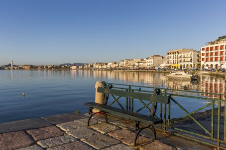 Central part of Zakynthos city, the capital of the island of Zakynthos Editorial