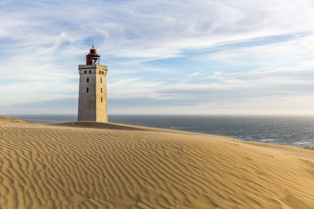 Rubjerg Knude lighthouse buried in sands on the coast of the North Sea Stock Photo