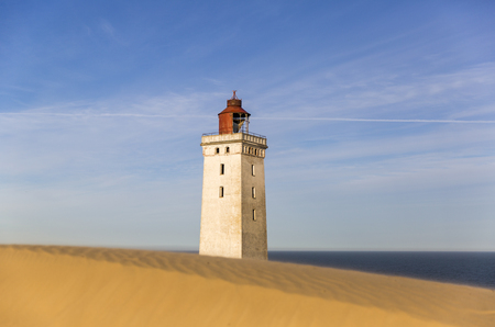 Rubjerg Knude lighthouse buried in sands on the coast of the North Sea Stock Photo - 106277315