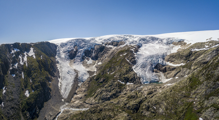 Buarbreen glacier, an offshoot of the large Folgefonna glacier