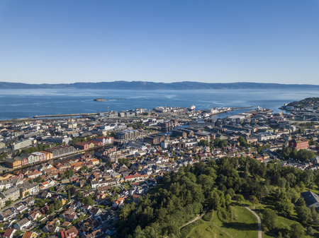 Aerial view of Trondheim Imagens