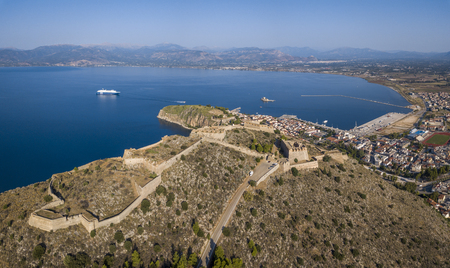 Aerial view of Palamidi fortress in Nafplio