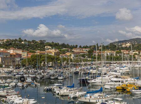 SAINT-JEAN-CAP-FERRAT, FRANCE - SEPTEMBER 15, 2018: Port of Saint-Jean-Cap-Ferrat on French Riviera Editorial
