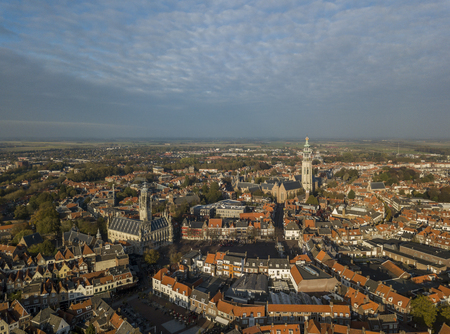 Aerial view of Middelburg, Zeeland 스톡 콘텐츠