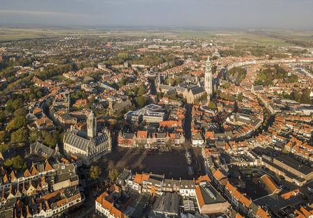 Aerial view of Middelburg, Zeeland Imagens