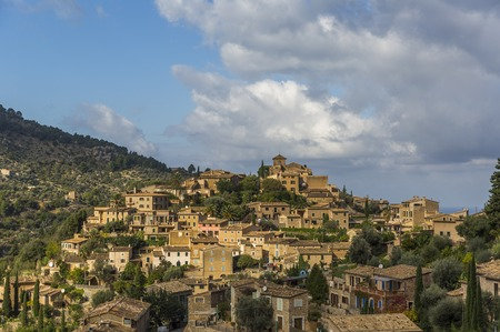 Deia coastal village on the island of Mallorca 스톡 콘텐츠