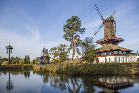 Beautiful reflection of Mills in Gifhorn, Germany