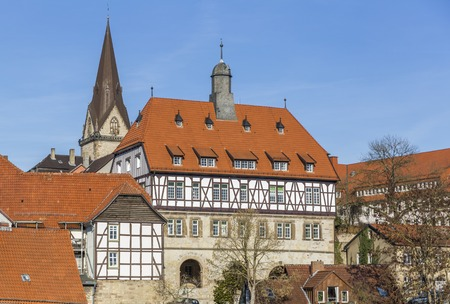 Town Hall Between the Towns in Warburg, built in 1568, Germany