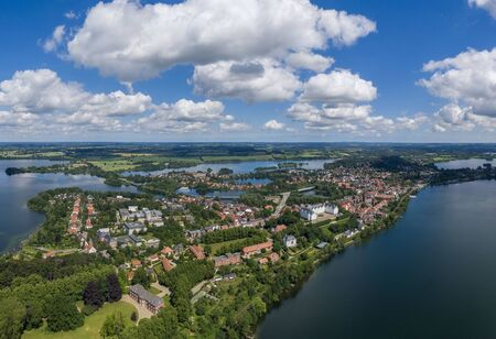 Aerial view of Ploen city in Germany 스톡 콘텐츠