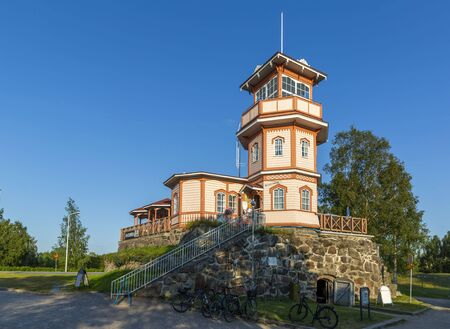 Former observatory built on the remaining powder magazine of the Oulu Castle, Finland