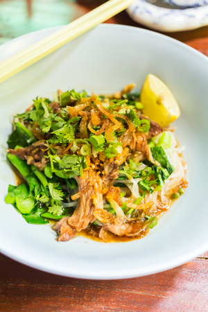 Thai Noodle with Pork photo