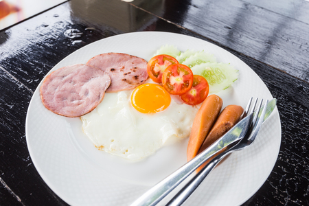 bacon love: Breakfast Stock Photo