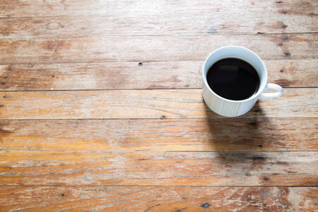 Black coffee on working table