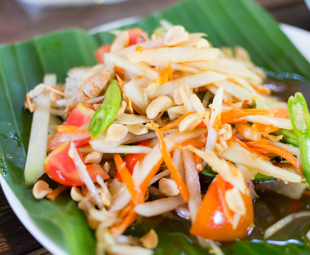 goi: Som Tam Thai - Thai Green Papaya Salad with peanuts