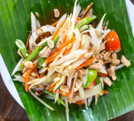 tam: Som Tam Thai - Thai Green Papaya Salad with peanuts