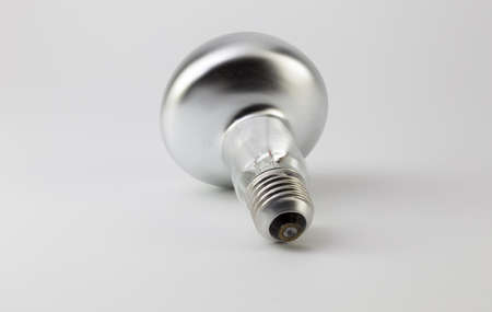 halogen: A halogen bulb on a white background Stock Photo