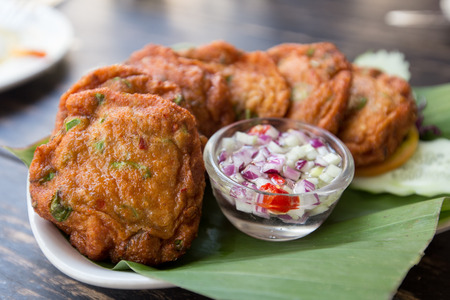 spice cake: Thai Food Fried Fish Cakes