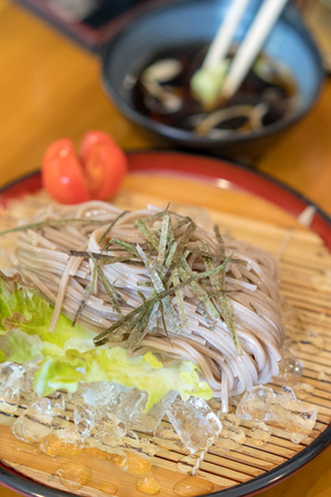 Soba noodles japanese food Фото со стока