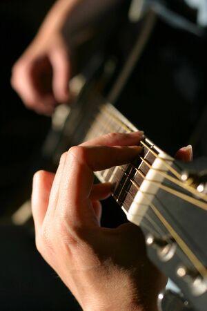 resonate: guitar player Stock Photo
