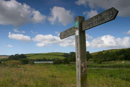 trecking: signpost Stock Photo