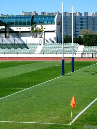 Stadium with rugby posts Stock Photo - 823950