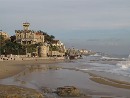 Castle in front of the Estoril Beach