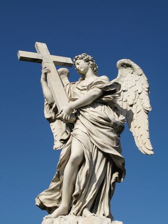 to implore: An angel of the santangelo bridge in Rome