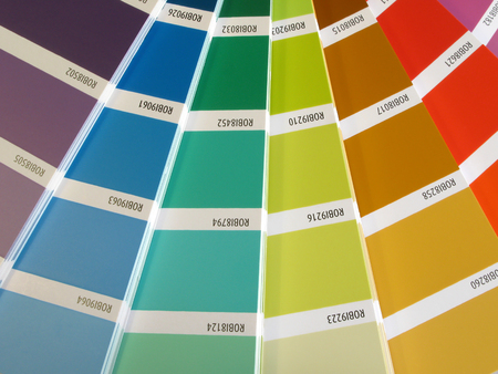 ordinate: Colorful background: Color guide for painting selection