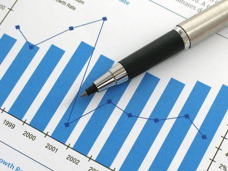 show bill: Pluma que demuestra un diagrama en un informe