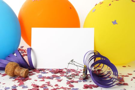 Party background with a white card for message Stock Photo