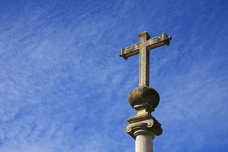 Cross with a beautiful cloudy sky as background Stock Photo - 3485799