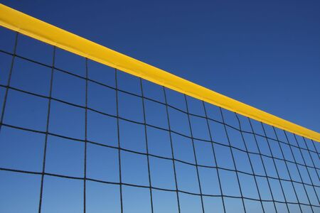 Detail of beach volley net wit a perfect blue sky Stock Photo - 3616535