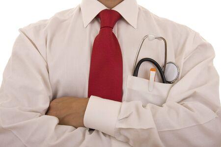 Lekarza z stetoskop o robię