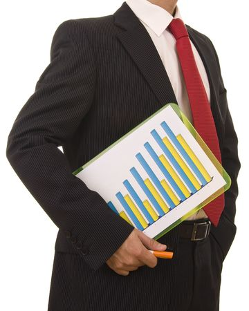 Close-up od a businessman holding a financial report photo