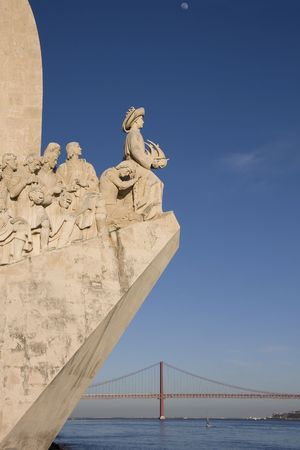 Detail od the discovery monument on Lisbon - Portugal