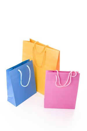 Colorful shopping bags isolated on white Stock Photo - 5118917