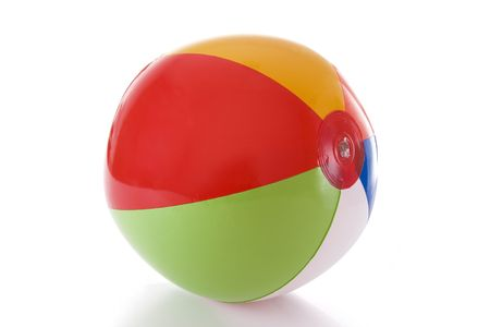 A colorful beach ball isolated on a white background photo